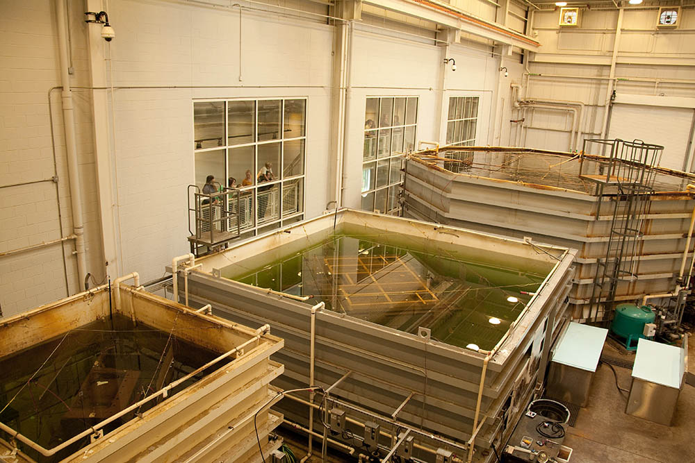 Publicly viewable, these treatment tanks hold the Monitor's largest artifacts. The Batten Conservation Complex is home to the world's largest marine archaeological metals conservation project.