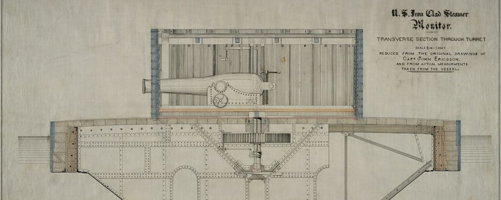 Rowland plan 25 of the Monitor, transverse through the turret